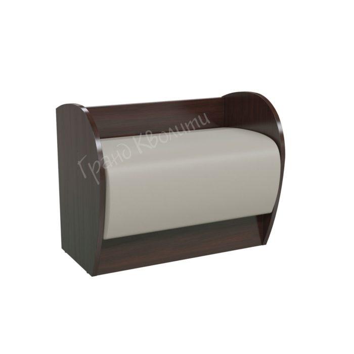 Диван Фокус 2-4202 - ЛДСП венге/кожзам беж