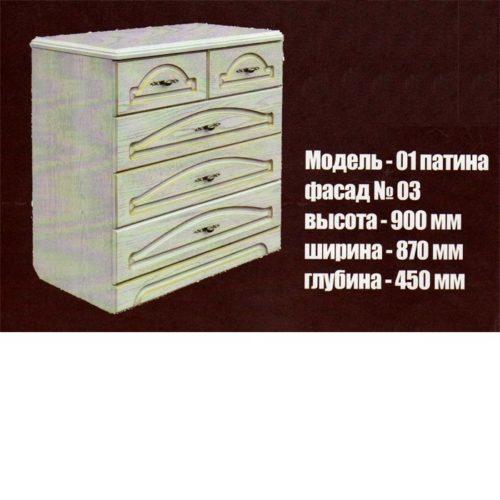 Модель-01 фасад №03 белый