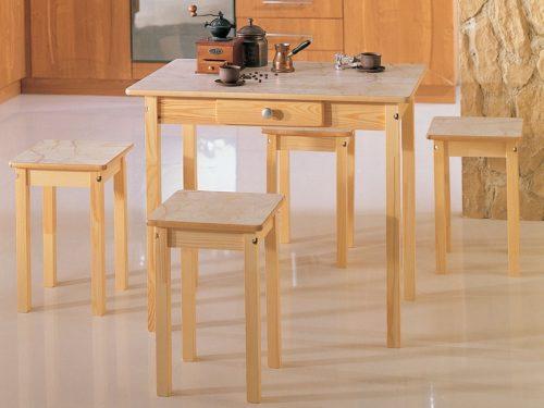 Обеденный стол прямая нога нераскладной