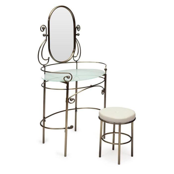 Туалетный столик с пуфом TetChair Albert античная медь
