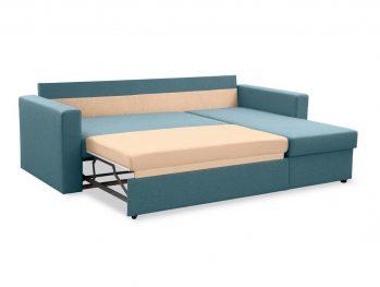 """Угловой диван """"Фишер-Торонто"""" Голубой - раскладка"""