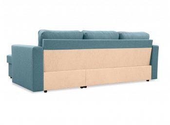 """Угловой диван """"Фишер-Торонто"""" Голубой - вид сзади"""