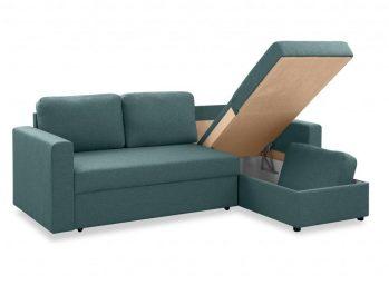 """Угловой диван """"Фишер-Торонто"""" Серый - бельевой ящик"""