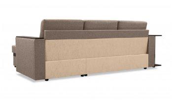 """Угловой диван с полкой """"Атланта"""" коричневый - сзади"""